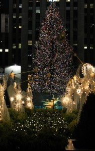 Rockefeller Plaza Christmas Tree and Angels