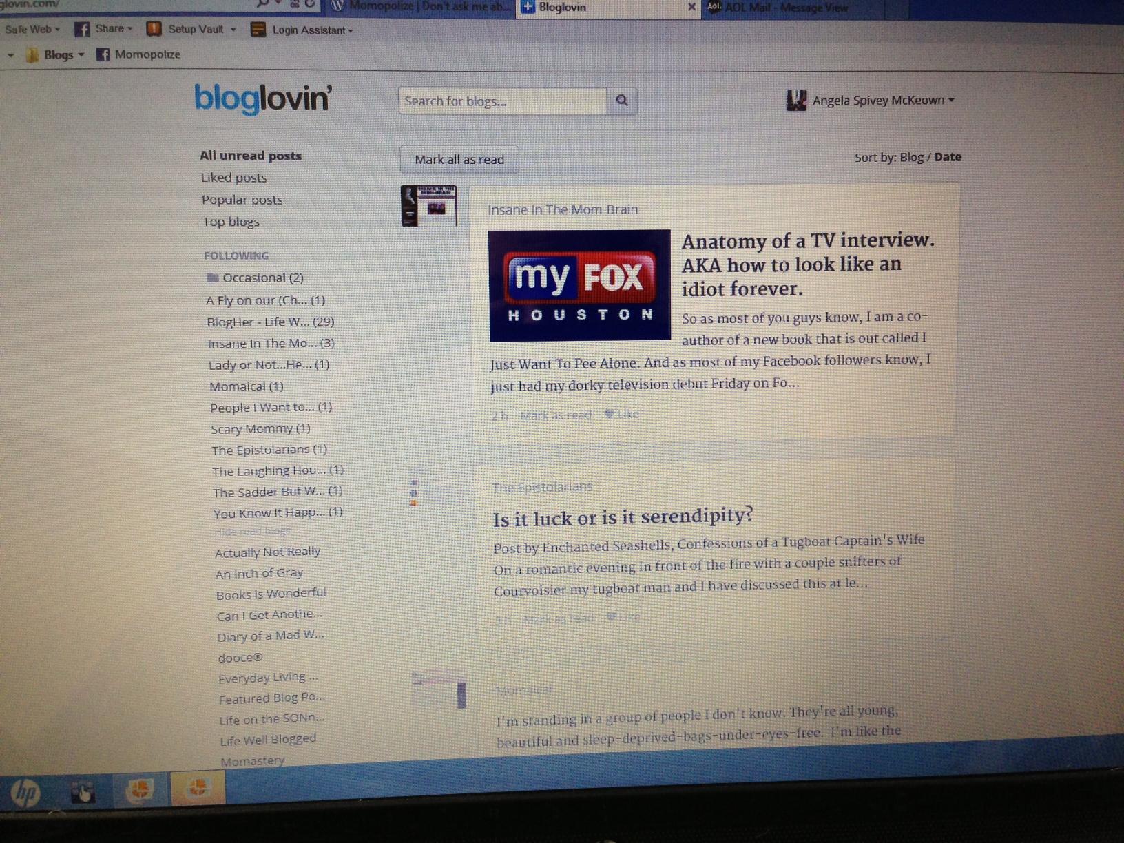 bloglovin screen shot