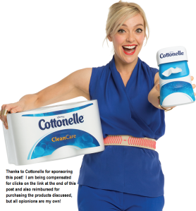 Cottonelle Clean Care and Flushable Wipes disclosure